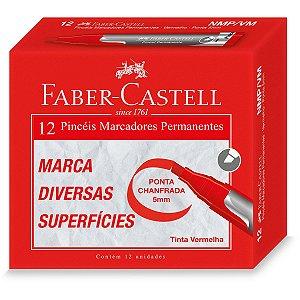 Pincel Marcador Permanente Vermelho Faber-Castell