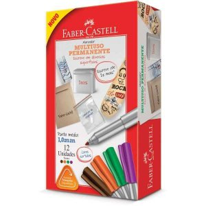 Pincel Marcador Ponta Media 4 Cores Sortidas Faber-Castell