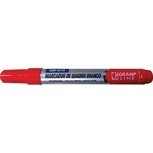 Pincel Quadro Branco Qb213 Recarregavel Vermelho Gramp Line
