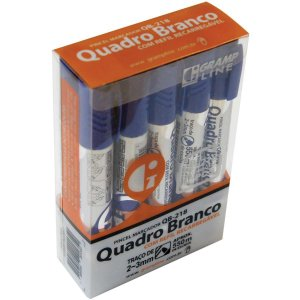 Pincel Quadro Branco Qb-218 C/refil Azul Gramp Line