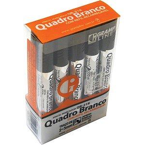 Pincel Quadro Branco Qb-218 C/refil Preto Gramp Line