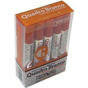Pincel Quadro Branco Qb-218 C/refil Vermelho Gramp Line