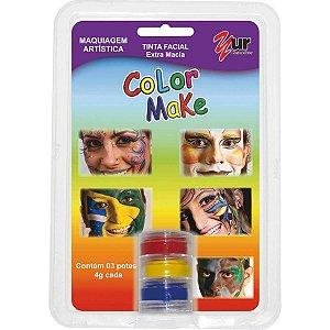 Pintura Facial Cremosa 3 Cores Colormake