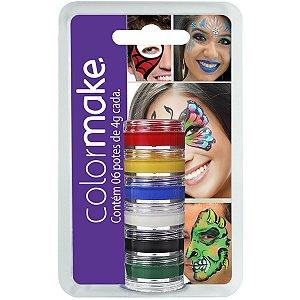 Pintura Facial Cremosa 6 Cores Colormake