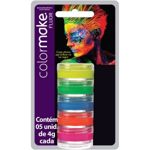 Pintura Facial Cremosa Color Make 5Cores Fluo Colormake