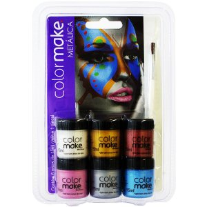 Pintura Facial Cremosa Metalica 6 Cores Colormake