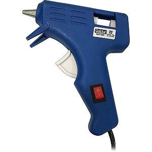 Pistola De Cola Quente 10W Pequena Bivolt Azul Make+