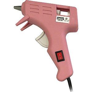 Pistola De Cola Quente 10W Pequena Bivolt Rosa Make+