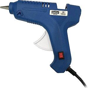 Pistola De Cola Quente 40W Grande Bivolt Azul Make+