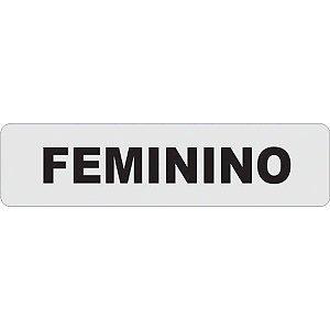 Placa De Sinalizacao Plastica Feminino 24X6Cm. Caneta Fixa