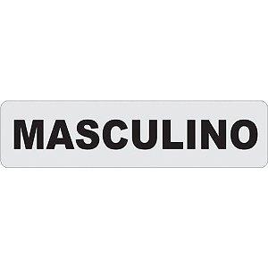 Placa De Sinalizacao Plastica Masculino 24X6Cm. Caneta Fixa