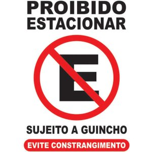 Placa De Sinalizacao Plastica Proibido Estacionar 19X28Cm Caneta Fixa