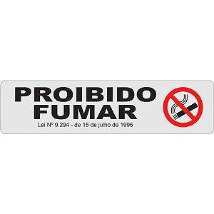 Placa De Sinalizacao Plastica Proibido Fumar 24X6Cm Caneta Fixa