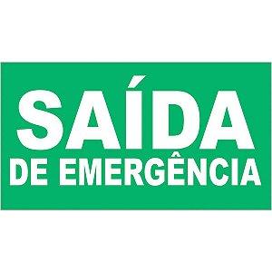 Placa De Sinalizacao Plastica Saida De Emergencia 27,5X15Cm Caneta Fixa