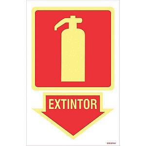 Placa De Sinalizacao Extintor 16X25Cm. Grespan