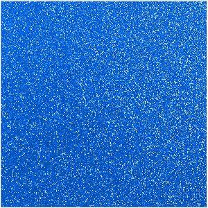 Placa Em Eva Com Gliter 48X40Cm Azul Meia Noite 2Mm Make+