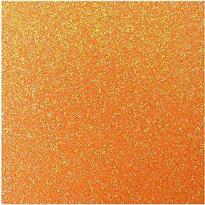 Placa Em Eva Com Gliter 48X40Cm Laranja Neon 2Mm. Make+