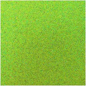 Placa Em Eva Com Gliter 48X40Cm. Verde Neon 2Mm. Make+