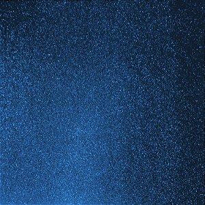 Placa Em Eva Com Gliter 60X40Cm Azul 2Mm. Dubflex