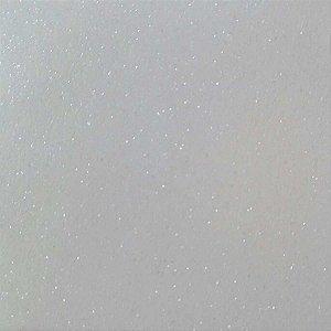 Placa Em Eva Com Gliter 60X40Cm Branco 2Mm. Dubflex