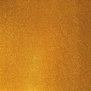 Placa Em Eva Com Gliter 60X40Cm Laranja 2Mm. Dubflex