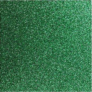 Placa Em Eva Com Gliter 60X40Cm Verde 2Mm Make+