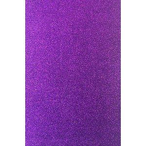 Placa Em Eva Com Gliter 60X40Cm Violeta 2Mm Make+