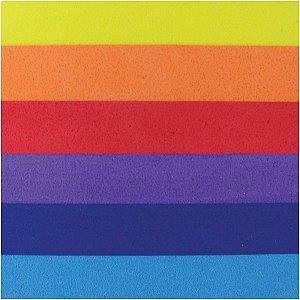 Placa Em Eva Estampado 60X40Cm Arco Iris 2Mm Make+