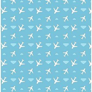 Placa Em Eva Estampado 60X40Cm Aviao 2Mm. Make+