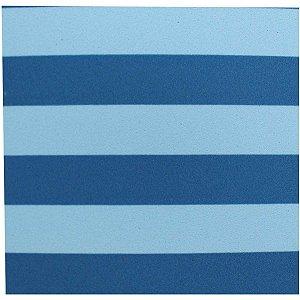 Placa Em Eva Estampado 60X40Cm Listrado Azul/bco 2Mm Make+