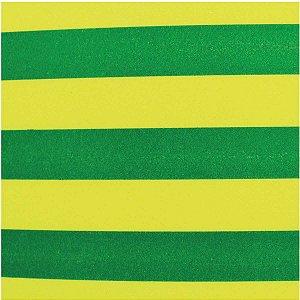 Placa Em Eva Estampado 60X40Cm Listrado Verde 2Mm Make+