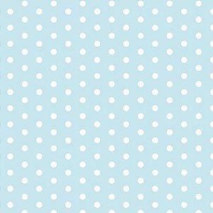 Placa Em Eva Estampado 60X40Cm Poa Azul/bco 2Mm Make+