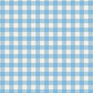 Placa Em Eva Estampado 60X40Cm Xadrez Branco/azul 2Mm Make+