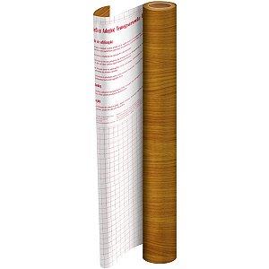 Plastico Adesivo 45Cmx 2M Madeira Caramelo Pvc 0,08 Dac