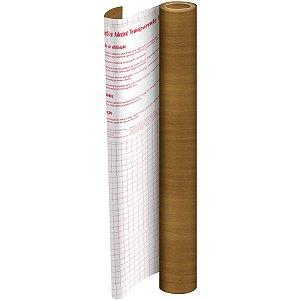 Plastico Adesivo 45Cmx 2M Madeira Marrom Pvc 0,08 Dac
