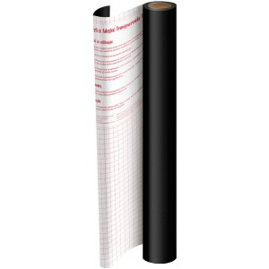 Plastico Adesivo 45Cmx 2M Pvc Preto 0,08 Dac