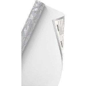 Plastico Adesivo 45Cmx10M Color Branco Fosco 0,80 Leonora