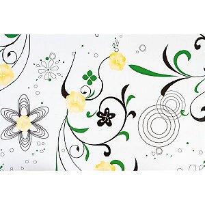 Plastico Adesivo 45Cmx10M Fantasia Floral 01 0,80 Leonora