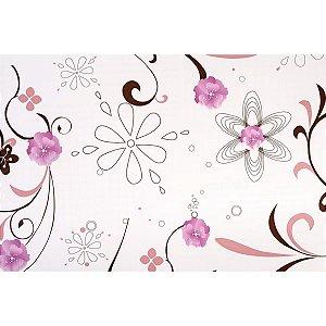 Plastico Adesivo 45Cmx10M Fantasia Floral 02 0,80 Leonora
