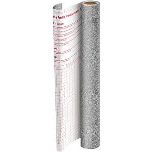 Plastico Adesivo 45Cmx10M Gliter Prata Pp 0,10 Dac