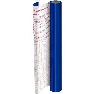 Plastico Adesivo 45Cmx10M Metalico Azul  Pp 0,08 Dac