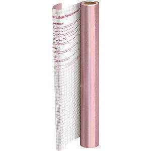 Plastico Adesivo 45Cmx10M Metalico Rosa Pp 0,08 Dac