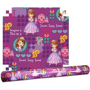 Plastico Adesivo 45Cmx10M Princesinha Sofia Pvc V.m.p.