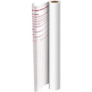 Plastico Adesivo 45Cmx10M Pvc Branco 0,08 Dac