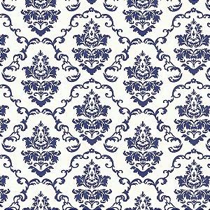 Plastico Adesivo 45Cmx15M Arabesco Portugal Azul Gekkofix