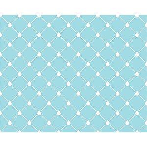 Plastico Adesivo 45Cmx15M Gotinhas Azul Gekkofix