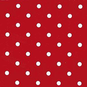Plastico Adesivo 45Cmx15M Poa Branco E Vermelho Gekkofix