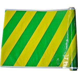 Plastico Para Encapar 25M 38Cm Listras Verde E Amarelo Goldplas