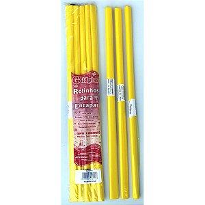 Plastico Para Encapar 2M 45Cm Amarelo Goldplas
