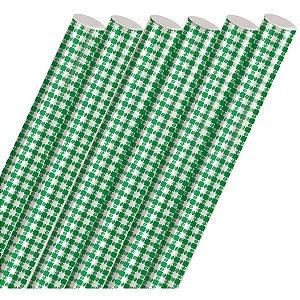 Plastico Para Encapar 2M Xadrez Verde 45Cm. Cromus